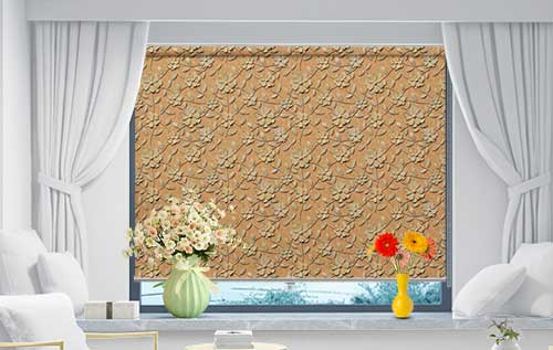 Rocky Floral Golden Yellow