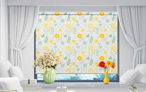Floral Light Yellow