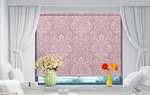 Abstract Floral Curtain